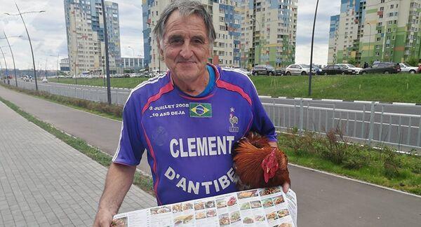 Главный болельщик сборной Франции Клеман Томашевский, более известный как Клеман из Антиба