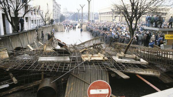 Баррикады в Вильнюсе. Январь 1991