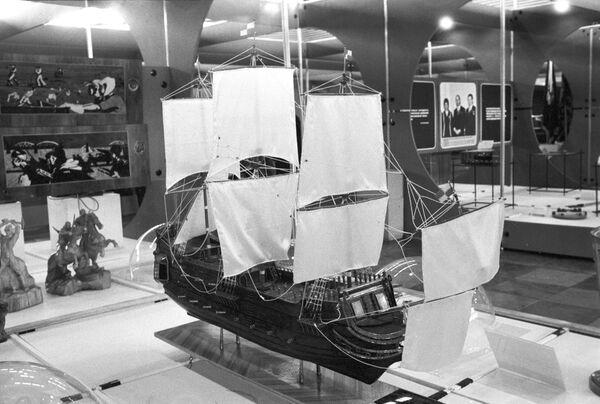 Модель первого русского корабля Орел