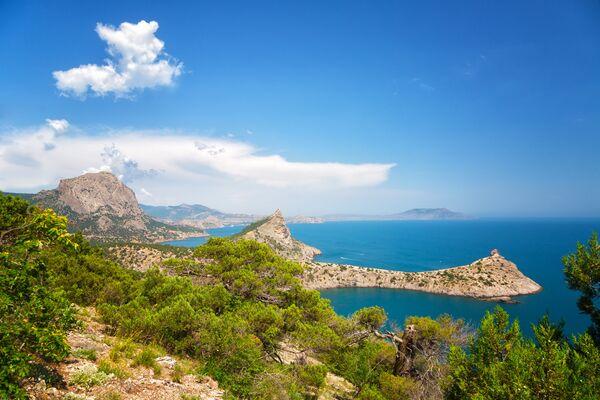 Вид на Царский пляж, Новый свет, Крым