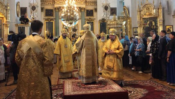 Богослужение в Князь-Владимирском соборе в Петербурге. 28 июля 2018