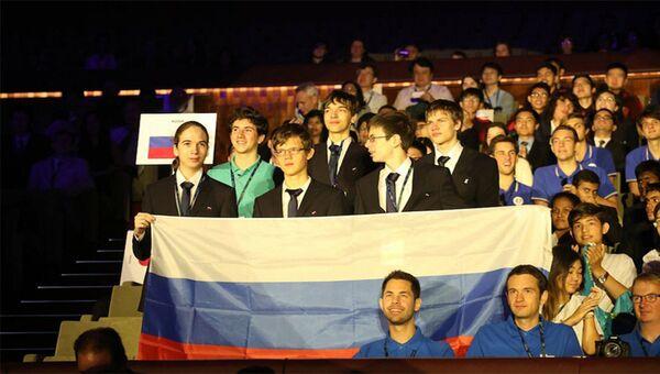 Участники сборной команды России по физике на 49-й Международной физической олимпиаде в Португалии. 28 июля 2018