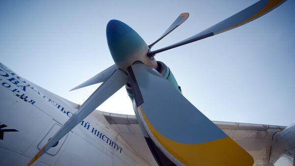 Летные испытания турбовинтового двигателя ТВ7-117СТ