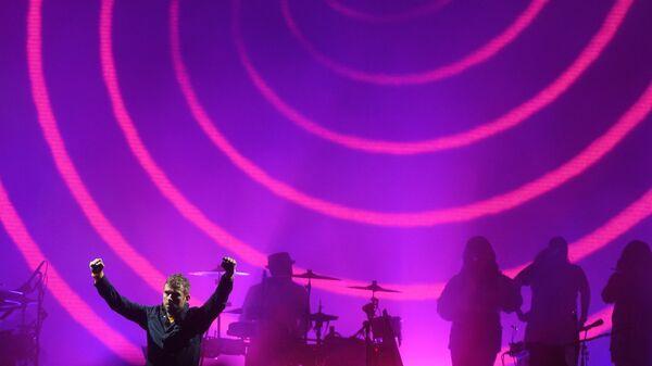 Деймон Албарн и британская группа Gorillaz выступает на музыкальном фестивале Park Live в Центральном парке культуры и отдыха имени Горького в Москве