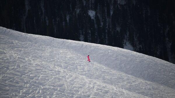 Отдыхающий на горнолыжном курорте
