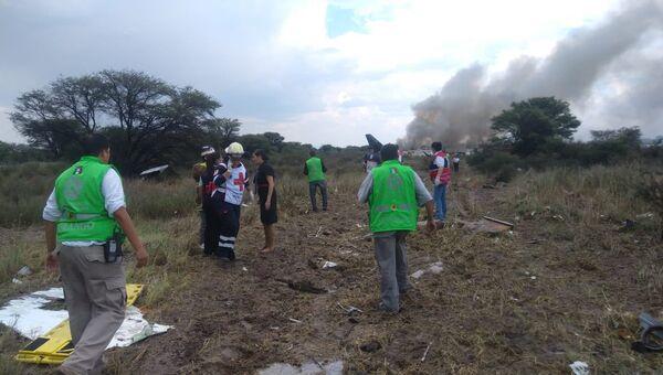 В Мексике потерпел крушение пассажирский самолет. 31.07.2018