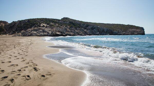 Пляж в Турции. Архивное фото