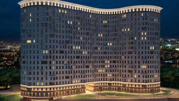 Третий корпус жилого комплекса Лефорт