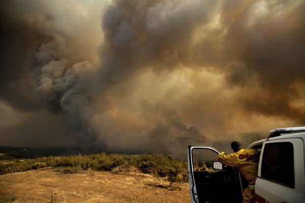 Лесные пожары в Калифорнии.