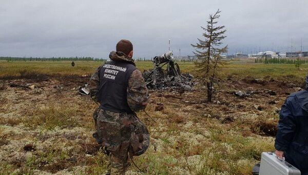 На месте крушения вертолета Ми-8 в Красноярском крае. Архивное фото