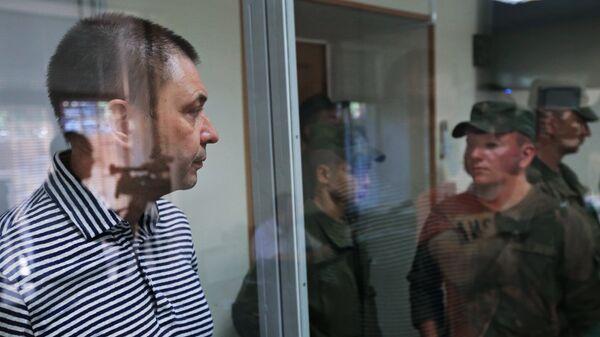 Кирилл Вышинский в зале апелляционного суда Херсонской области Украины