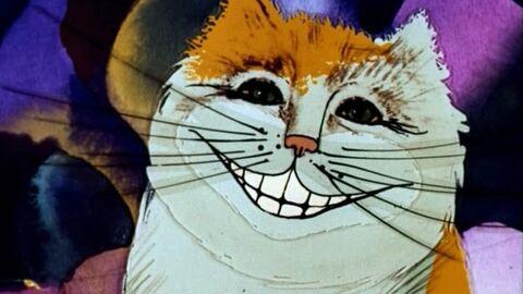 Чеширский кот из мультфильма Алиса в стране чудес