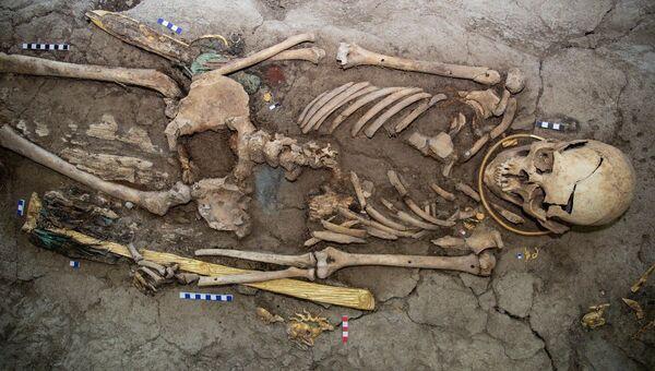 Останки Золотого человека найденного в Казахстане