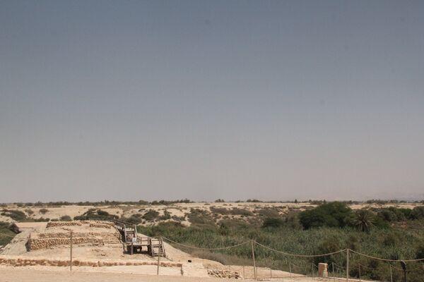 Развалины византийского храма в Джабаль Мар Ильяс на месте пещеры Иоанна Крестителя. Иордания