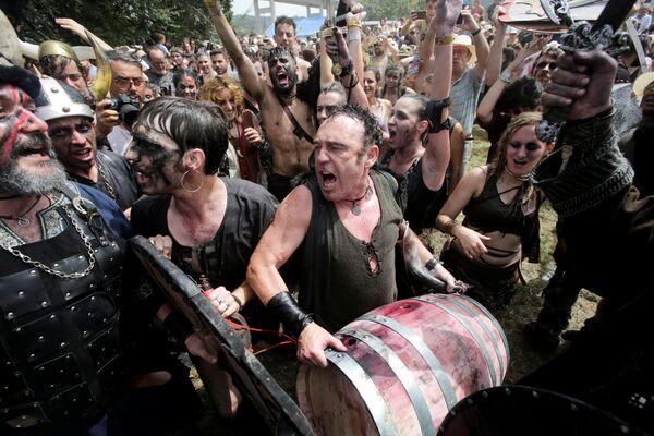 Фестиваль викингов в городе Катойра, Испания