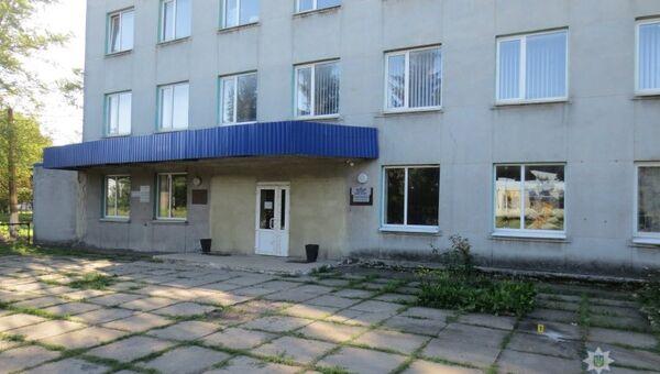 Проходная завода Пилоподавления в Покровске  Донецкой области Украины. 10 августа 2018