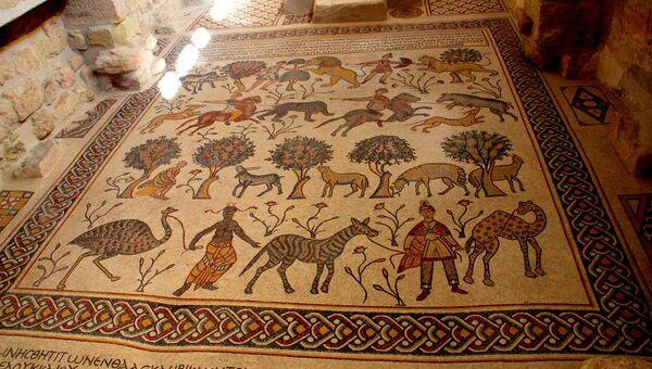 Византийская мозаика VII века на горе Нево, Иордания