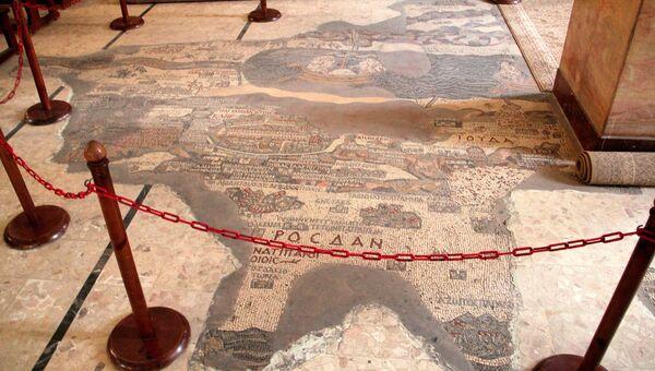 Мадабская карта, Иордания