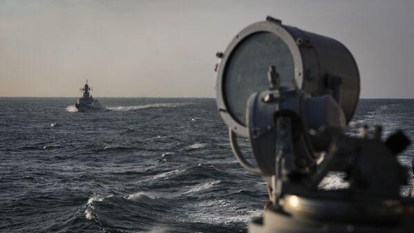 Учения в Каспийском море