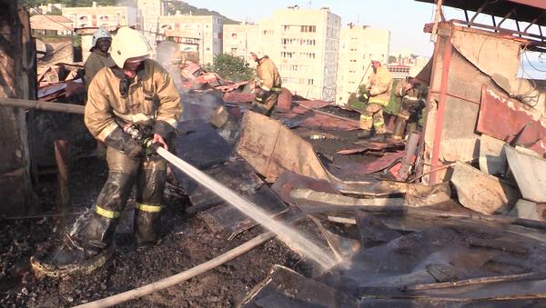 Крымские спасатели ликвидировали пожар в поселке городского типа Кореиз. 14 августа 2018