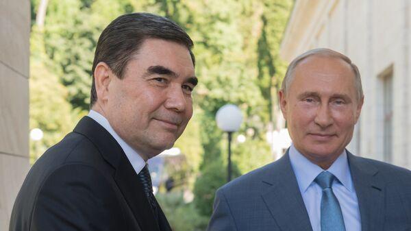 Президент РФ Владимир Путин и президент Туркменистана Гурбангулы Бердымухамедов