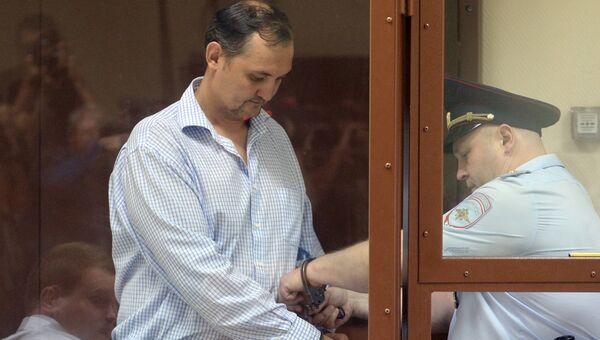 Экс-заместитель директора ПАО РКК Энергия Алексей Белобородов в суде. 20 августа 2018