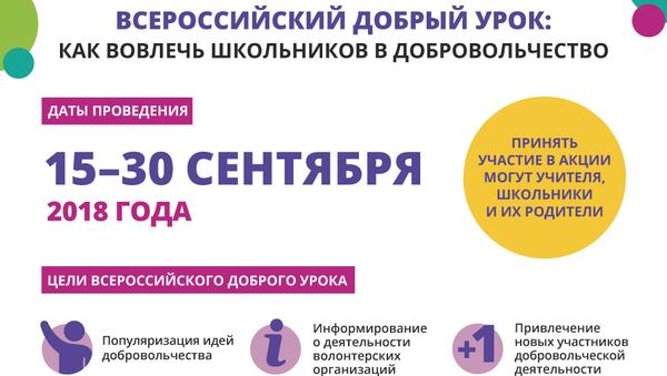 Всероссийский добрый урок: как вовлечь школьников в добровольчество