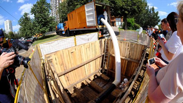 Реконструкция газопровода на Симферопольском бульваре