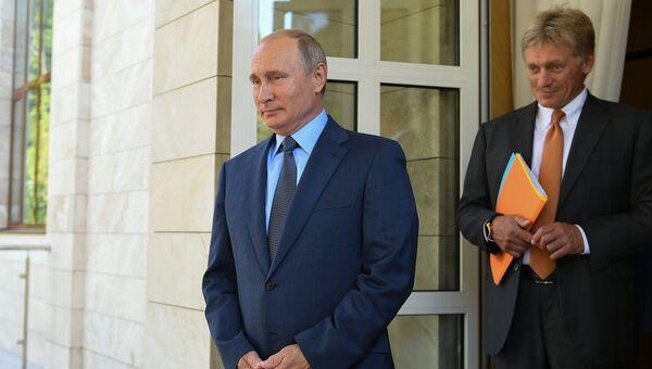 Президент РФ Владимир Путин перед встречей с президентом Финляндской Республики Саули Ниинистё. 22 августа 2018