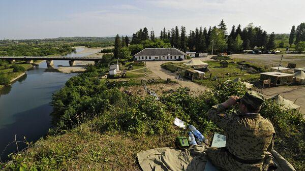 Наблюдательный пункт пограничной заставы на абхазско-грузинской границе
