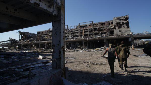 Разрушенный аэропорт в Донецке. Архивное фото