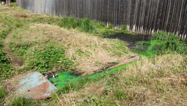 Выброс сточных вод из ИК-29 в Ухте