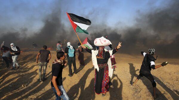 Cтолкновения палестинцев с израильской армией в секторе Газа