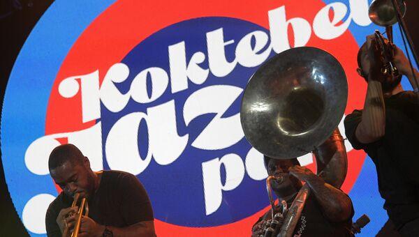 Музыкант Оноре Чадрик Кинтан во время выступления на 16-м международном музыкальном фестивале Koktebel Jazz Party
