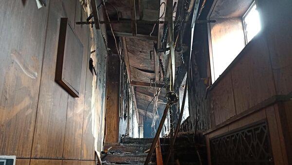 Отель после пожара в Харбине, Китай. 25 августа 2018