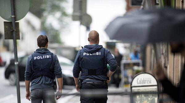 Финские полицейские. архивное фото