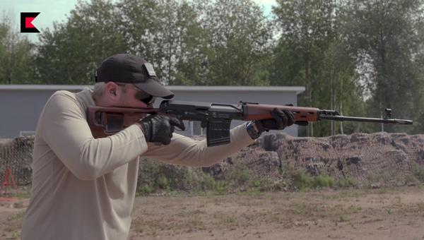 Гладкоствольный карабин TG3 выполнен в дизайне винтовки СВД