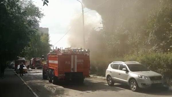 Пожар на крытом теннисном корте в подмосковном Реутове. 30 августа 2018