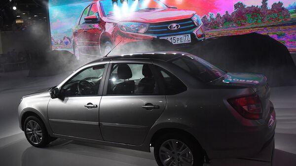 Автомобиль Lada Granta на Московском международном автомобильном салоне 2018