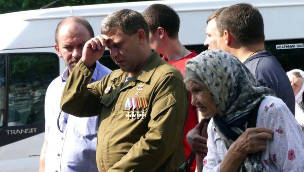 Глава Донецкой народной республики Александр Захарченко во время празднования 1030-летия Крещения Руси в Донецке