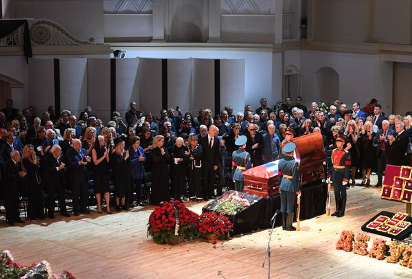Церемония прощания с народным артистом СССР, певцом, депутатом Государственной Думы РФ Иосифом Кобзоном