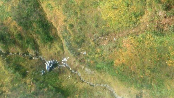 Обломки вертолета Ми-8 авиакомпании Ангара, потерпевшего крушение в Казачинско-Ленском районе Иркутской области