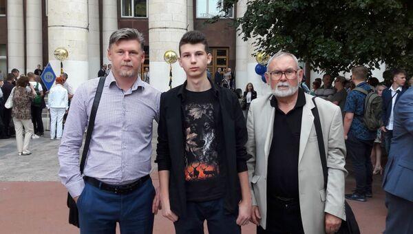 Егор Кислицын с отцом и дедушкой