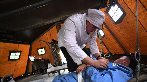 Учения военных медиков