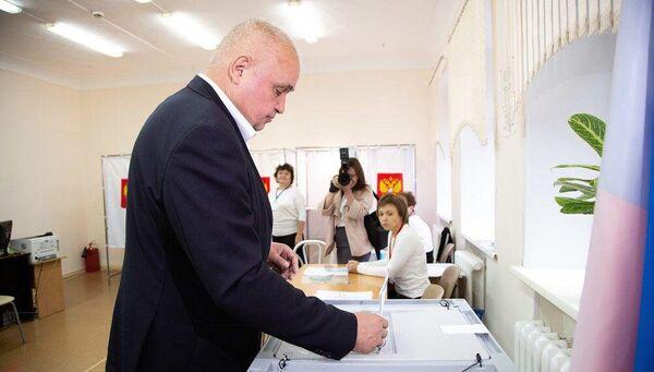 Врио главы Кузбасса Сергей Цивилев проголосовал на выборах губернатора Кемеровской области
