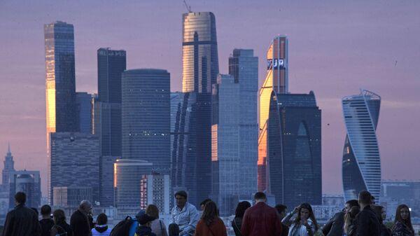 Вид на Международный деловой центр Москва-Сити . Архивное фото