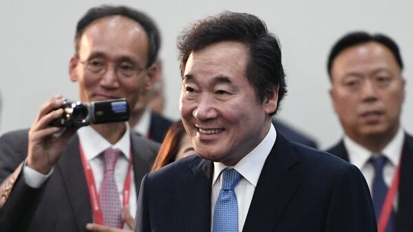 Глава правящей Объединенной демократической партии в Южной Корее Ли Нак Ён