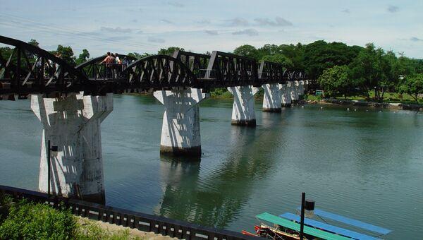 Мост через реку Квай - знаменитый мост Бирманской железной дороги