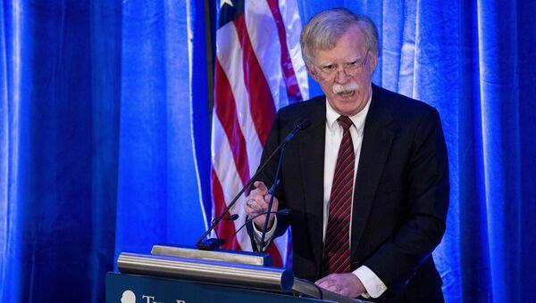 Советник президента США по национальной безопасности Джон Болтон во время выступления в Вашингтоне. 10 сентября 2018