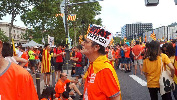 Национальный день Каталонии в Барселоне. Архивное фото